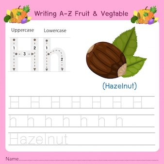 Az fruit&vegetables hを書く