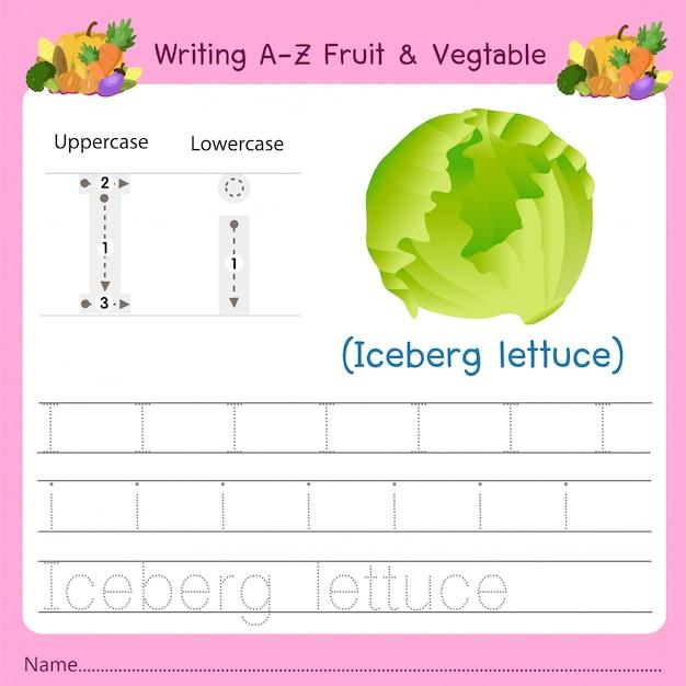Az fruit&vegetables iを書く