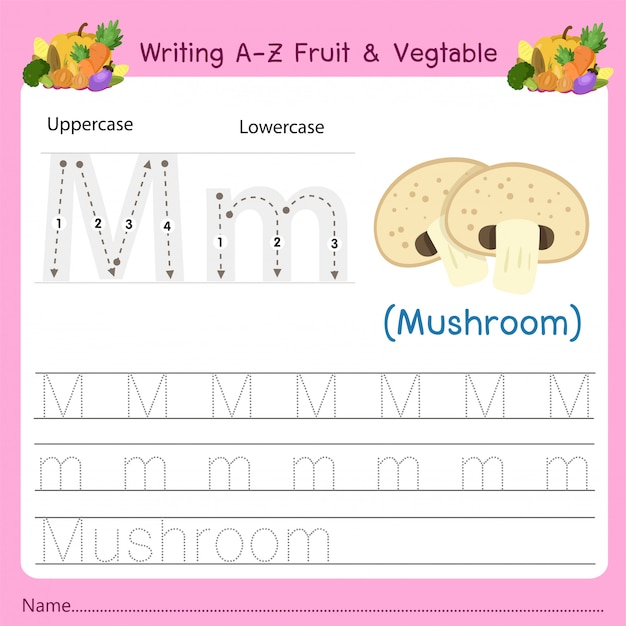 Az fruit&vegetables mを書く