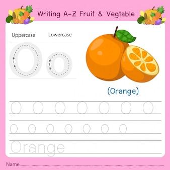 Az fruit&vegetables oを書く