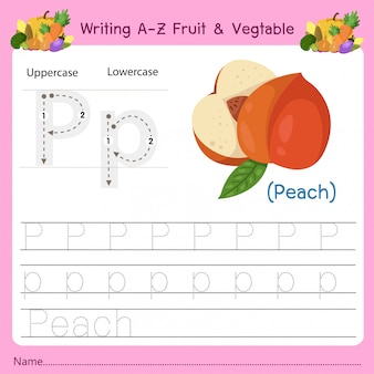 Az fruit&vegetables pを書く