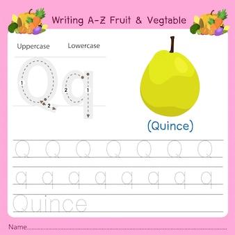 Az fruit&vegetables qを書く