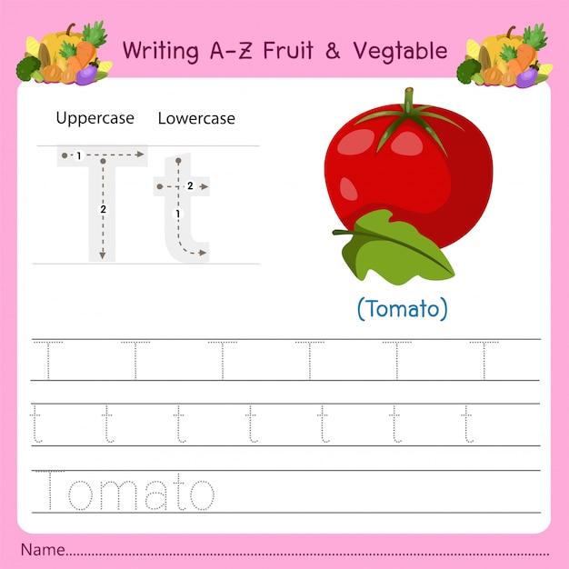 Az fruit&vegetables tを書く