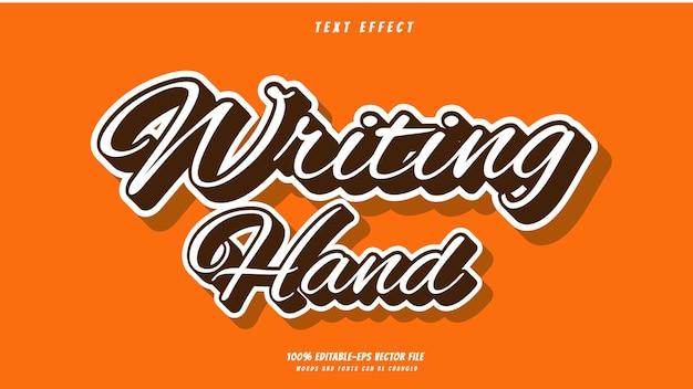 Написание руки текстовый эффект дизайн вектор. текстовый эффект 100% редактируемый векторный файл eps слова и шрифты шрифты могут быть изменены