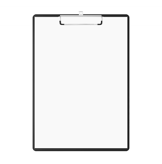 Writing pad with copy-space. clipboard with blank papers and copy space isolated on white background. notepad