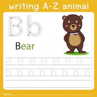 Writing a-z animal b