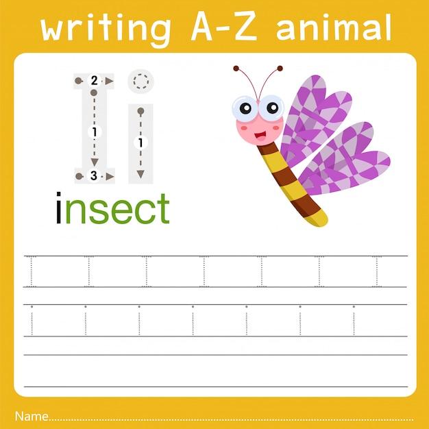 Writing a-z animal i