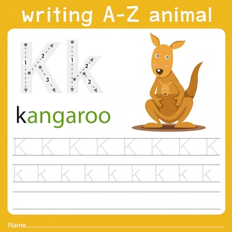 Writing a-z animal k