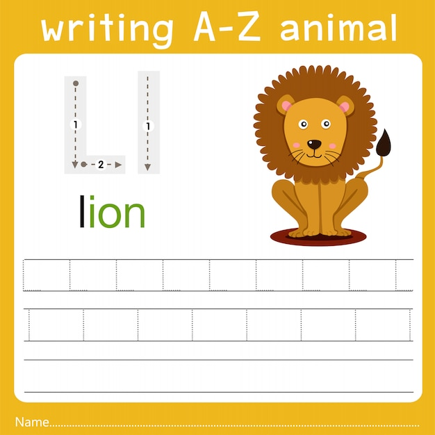 Writing a-z animal l