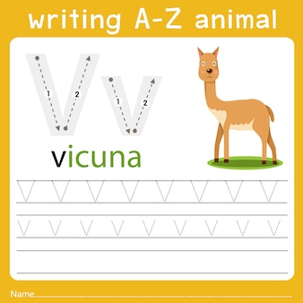 Writing a-z animal v