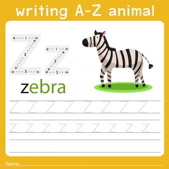 Writing a-z animal z