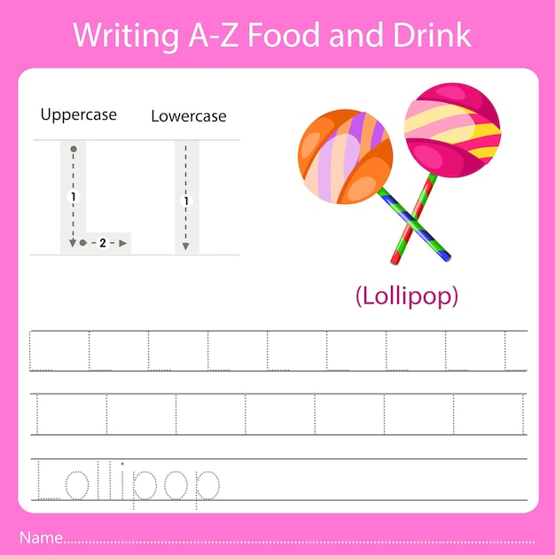 Writing a z food and drink l