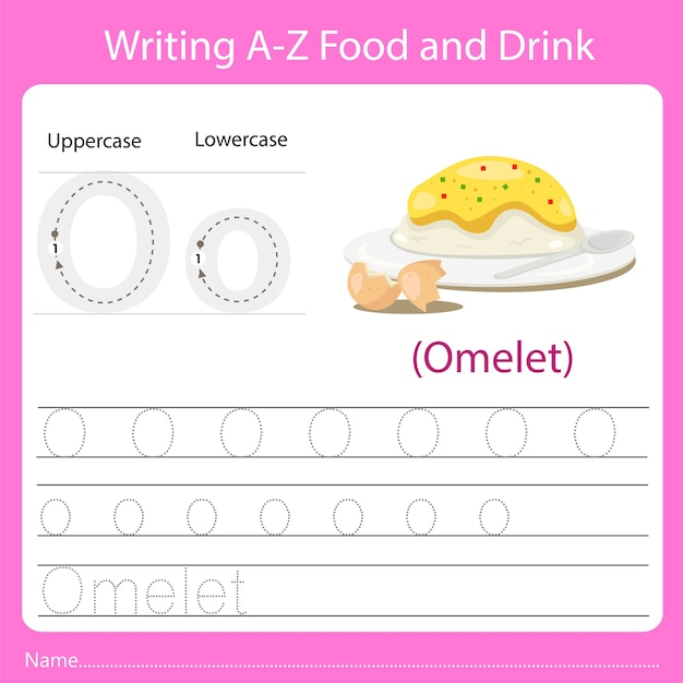 Writing a z food and drink o
