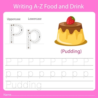 Writing a z food and drink p