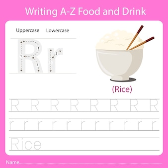 Writing a z food and drink r