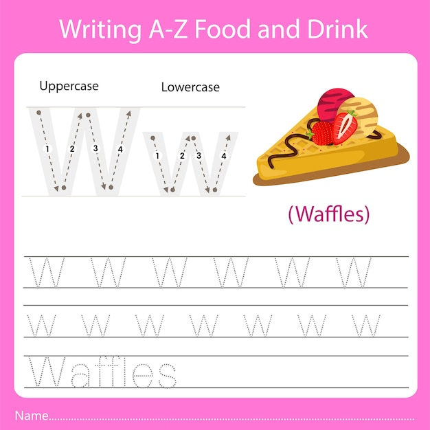 Writing a z food and drink w