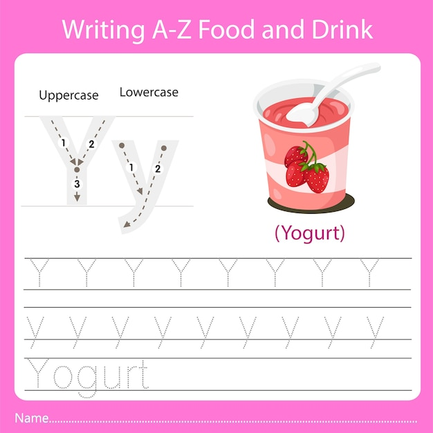 Writing a z food and drink y