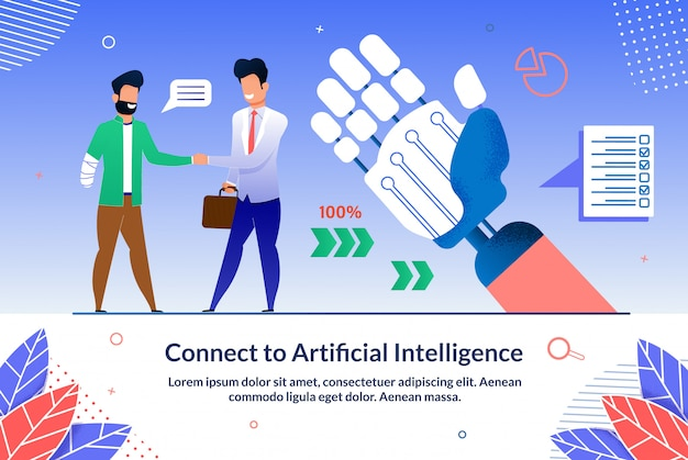 Written connect to artificial intelligence ad