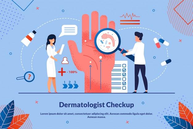 Written dermatologist checkup ad