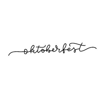 ドイツのオクトーバーフェストビールの日フェスティバルオーバーレイテキストで書かれたオクトーバーフェストのレタリング継続的なli ...
