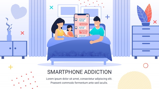 Written smartphone addiction banner