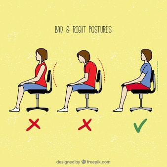 Wrong and correct ways to sit