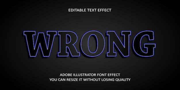 Wrong editable text effect