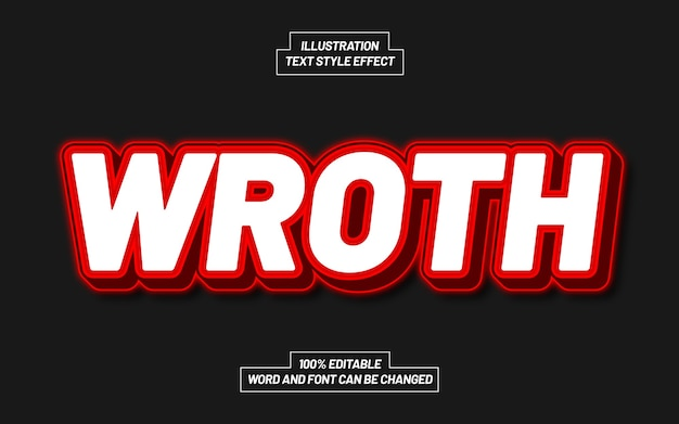 Wroth text style effect