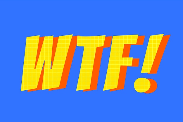 Wtf! чат слово типографика