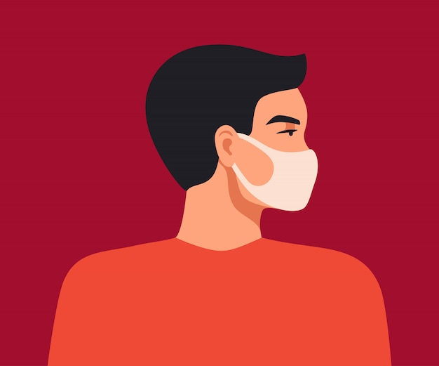 Wuhan novel coronavirus. young asian man wears a breathing mask to protect against coronavirus