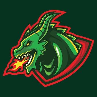 Wyvern esport logo illustration