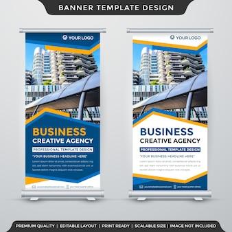 Xプロモーション広告に抽象的な背景スタイルを使用したバナーテンプレートデザイン