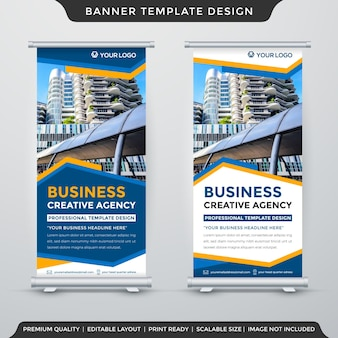 X banner template design with abstract background style use for promotion ads