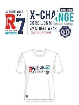 X-changeタイポグラフィデザインtシャツ
