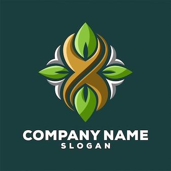 X leaf logo