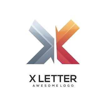 X письмо логотип градиент красочные иллюстрации