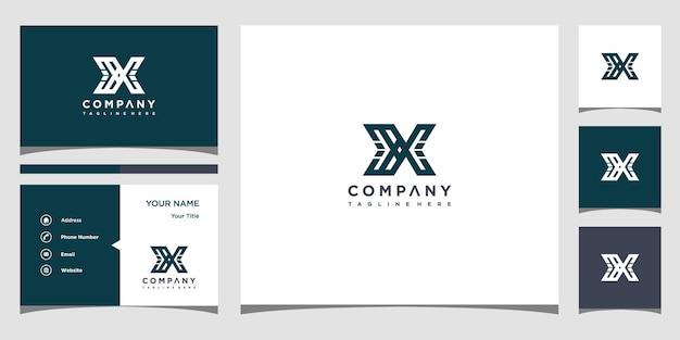 X名刺テンプレートプレミアムベクトルのロゴデザイン