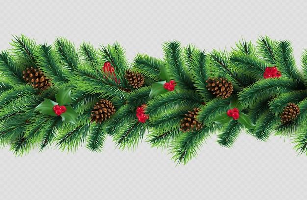 Рождественский бордюр
