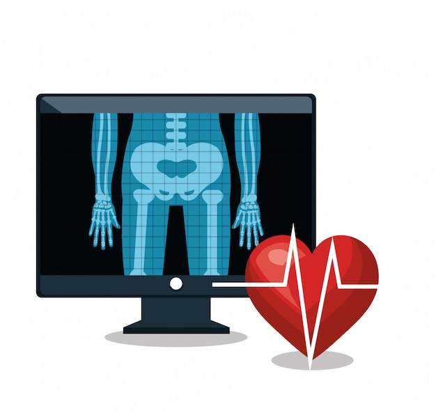 X ray digital medical healthcare isolated