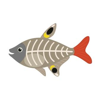 X線魚の動物の漫画のキャラクター