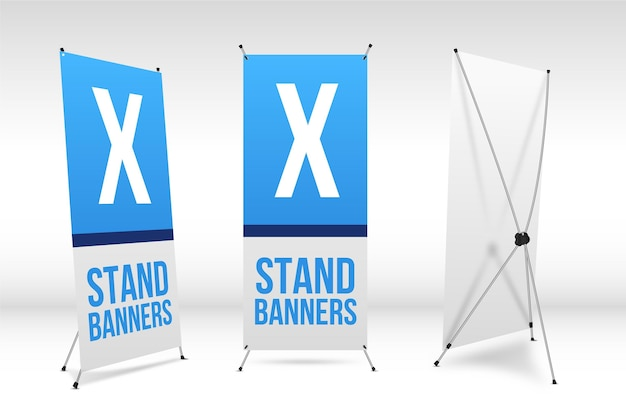 X stand banners set