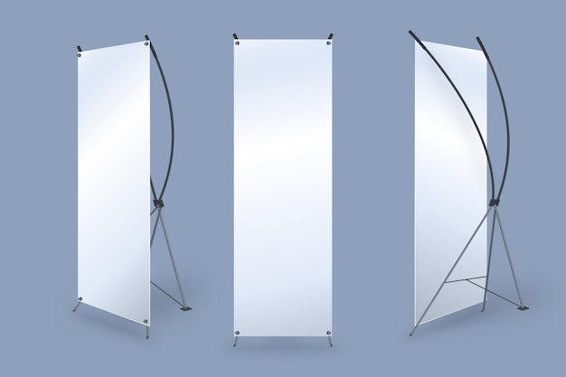 X stand roll up banners