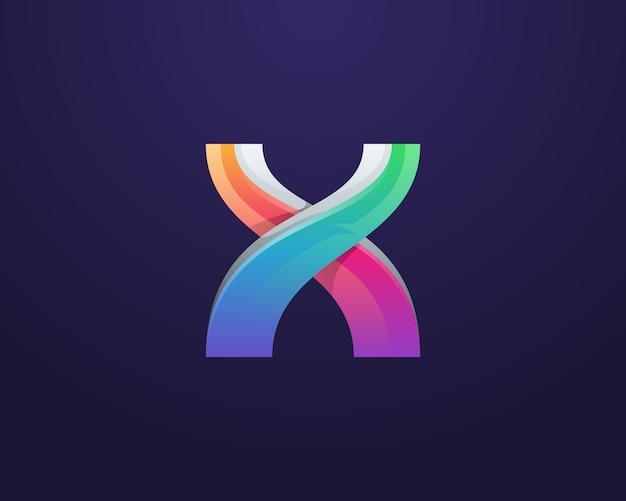 創造的なカラフルな文字xロゴ