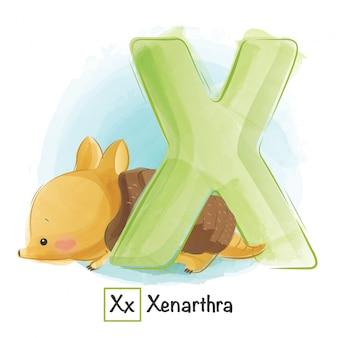 Алфавит животное - x