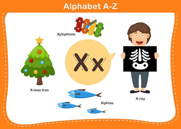 Буква x в алфавите