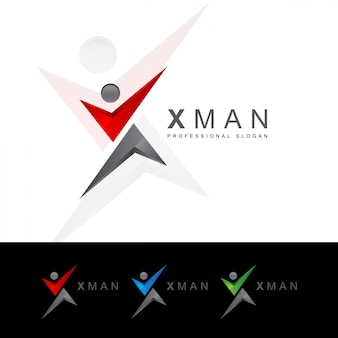Xレターヒューマンロゴ