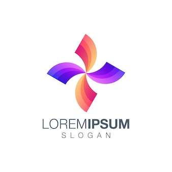 Шаблон логотипа цвета градиента буквы x