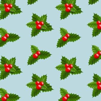 クリスマスホリーベリーとクリスマスバナー