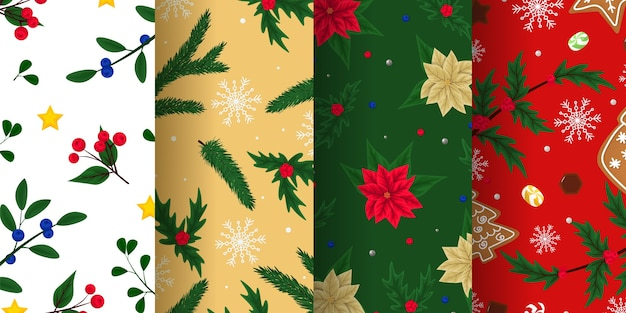Xmas endless textures for wallpaper