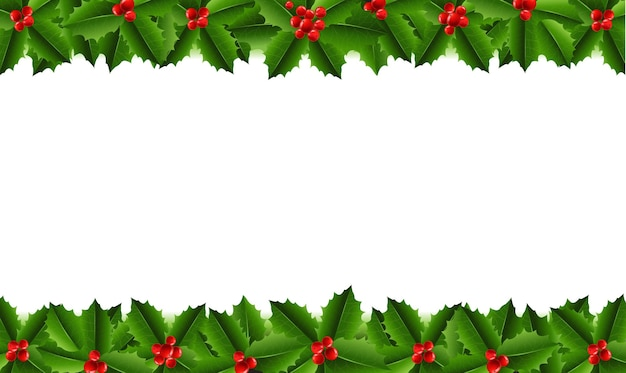 Xmas garland with holly berry